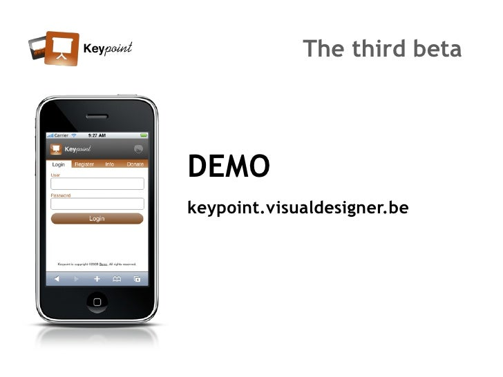 The third beta     DEMO keypoint.visualdesigner.be