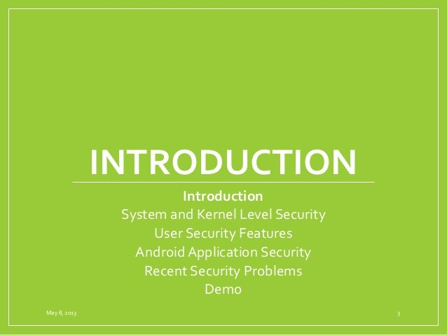 Android Security Slide 3