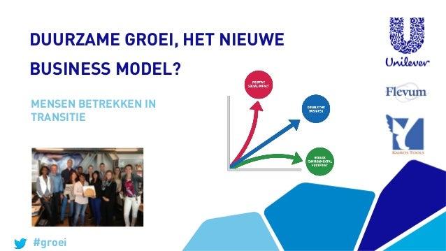 DUURZAME GROEI, HET NIEUWE BUSINESS MODEL? MENSEN BETREKKEN IN TRANSITIE  #groei