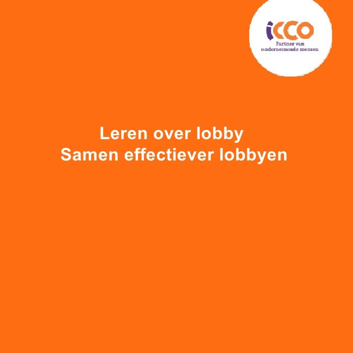 Leren over lobby  Samen effectiever lobbyen