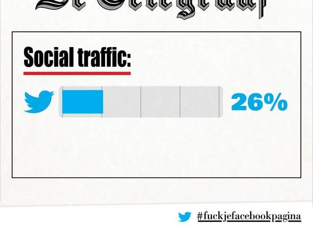 #fuckjefacebookpagina 26% Socialtraffic: