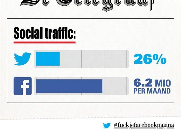 #fuckjefacebookpagina 26% 6.2 Mio per mAAnd Socialtraffic: