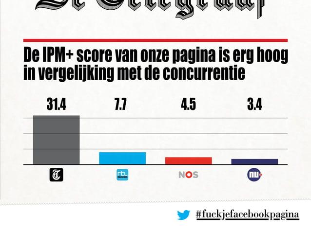 #fuckjefacebookpagina DeIPM+scorevanonzepaginaiserghoog invergelijkingmetdeconcurrentie 31.4 4.5 3.47.7