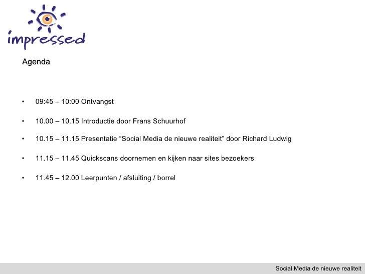 <ul><li>09:45 – 10:00 Ontvangst </li></ul><ul><li>10.00 – 10.15 Introductie door Frans Schuurhof  </li></ul><ul><li>10.15 ...