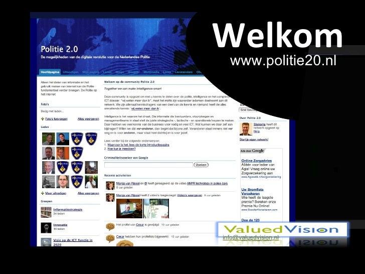 Welkom www.politie20.nl [email_address]
