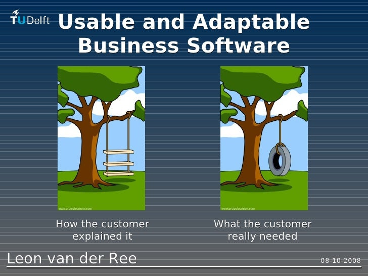 Usable and Adaptable        Business Software           How the customer   What the customer         explained it       re...