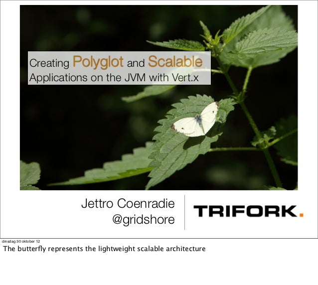 Creating Polyglot and Scalable              Applications on the JVM with Vert.x                        Jettro Coenradie   ...