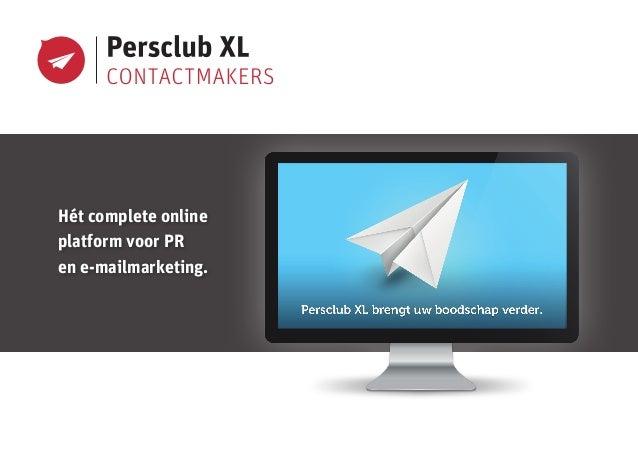 Hét complete online platform voor PR en e-mailmarketing.