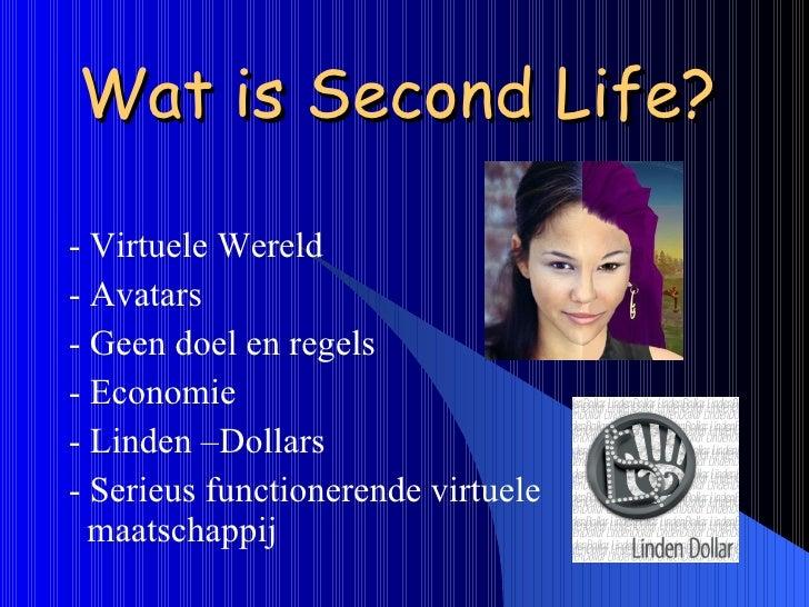 Presentatie Second Life Slide 2