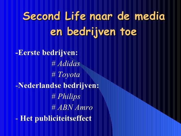 Presentatie Second Life Slide 3