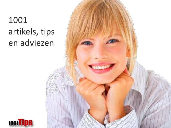 1001 tips, artikels en  adviezen<br />