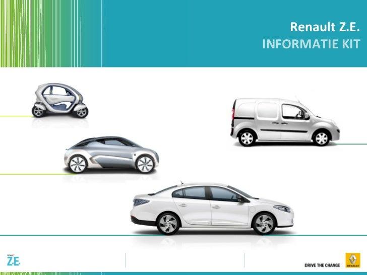 Renault Z.E. INFORMATIE KIT