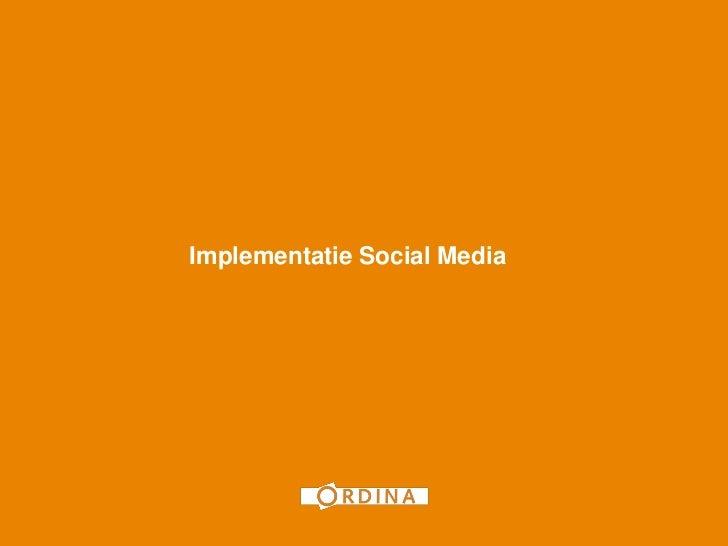 1Implementatie Social Media