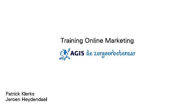 Training Online MarketingPatrick KlerksJeroen Heydendael