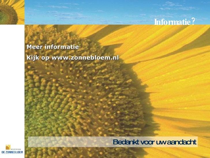 Zonnebloem: presentatie algemene informatie Raisingresults