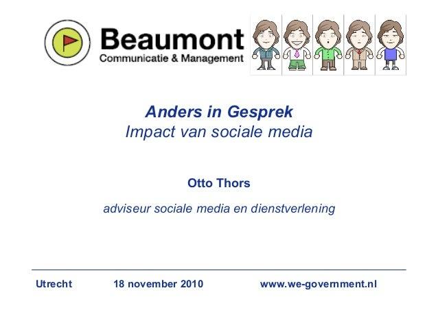 Anders in Gesprek              Impact van sociale media                           Otto Thors            adviseur sociale m...