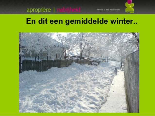 En dit een gemiddelde winter..-