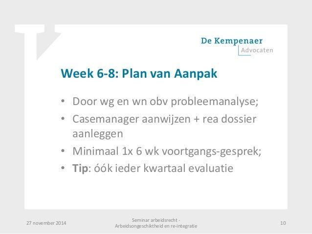 plan van aanpak re integratie Presentatie arbeidsongeschiktheid en re integratie