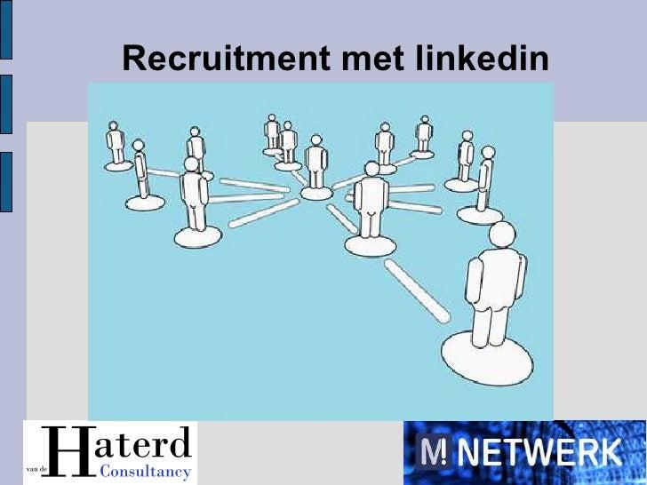 Recruitment met linkedin