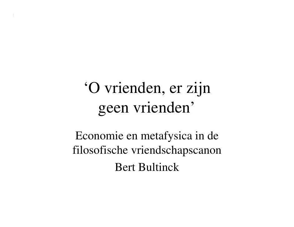Presentatie Bert Bultinck