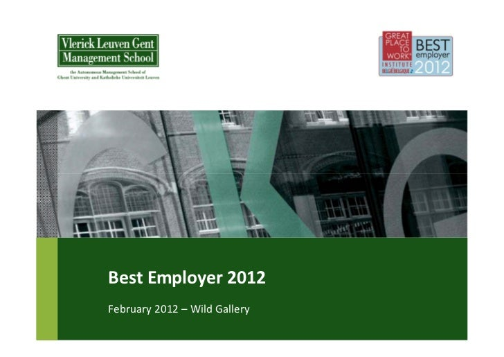 BestEmployer2012February2012– WildGallery