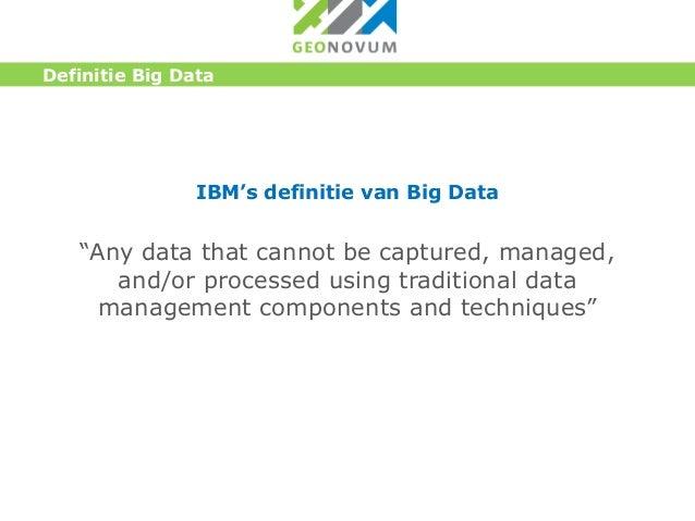 Big Data Definitie