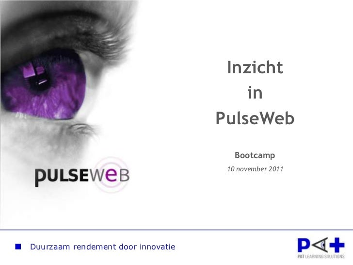Inzicht                                        in                                    PulseWeb                             ...