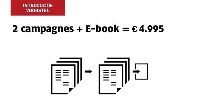 2 campagnes + E-book = € 4.995 INTRODUCTIE VOORSTEL