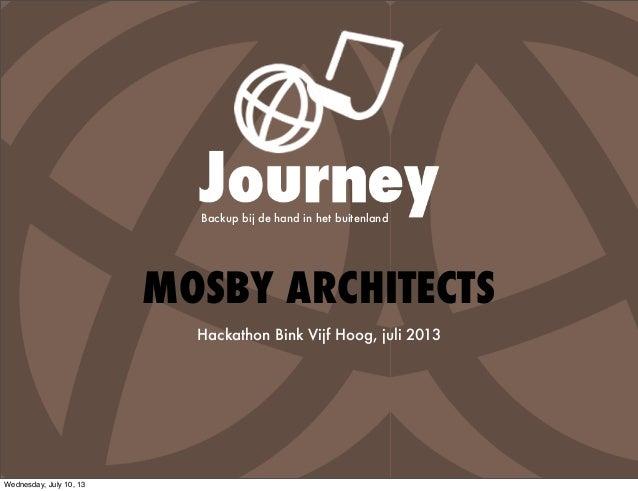 MOSBY ARCHITECTS Hackathon Bink Vijf Hoog, juli 2013 Backup bij de hand in het buitenland Wednesday, July 10, 13