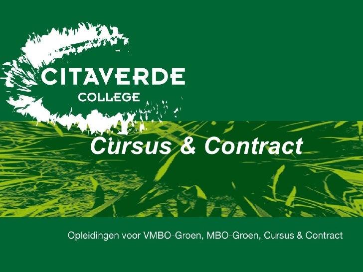 Cursus & Contract