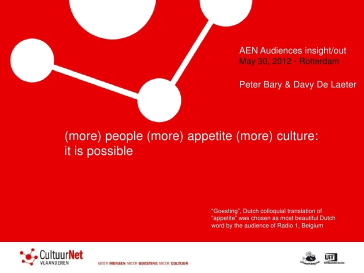 AEN Audiences insight/out                                    May 30, 2012 - Rotterdam                                    P...