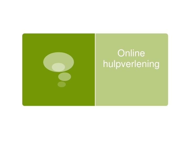 Online hulpverlening<br />