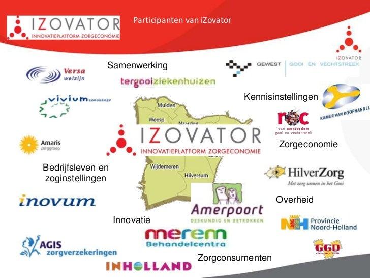 Participanten van iZovator               Samenwerking                                                    Kennisinstellinge...