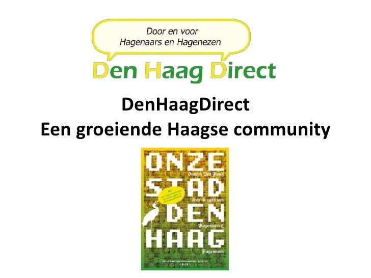 DenHaagDirectEen groeiende Haagse community