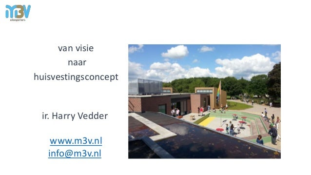 van visie naar huisvestingsconcept ir. Harry Vedder www.m3v.nl info@m3v.nl