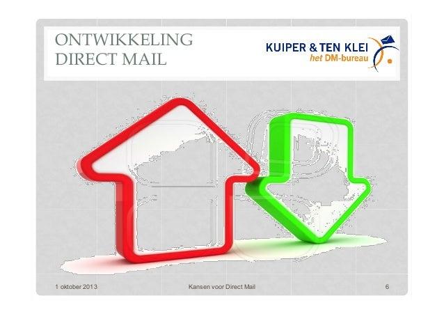 ONTWIKKELING DIRECT MAIL 1 oktober 2013 Kansen voor Direct Mail 6