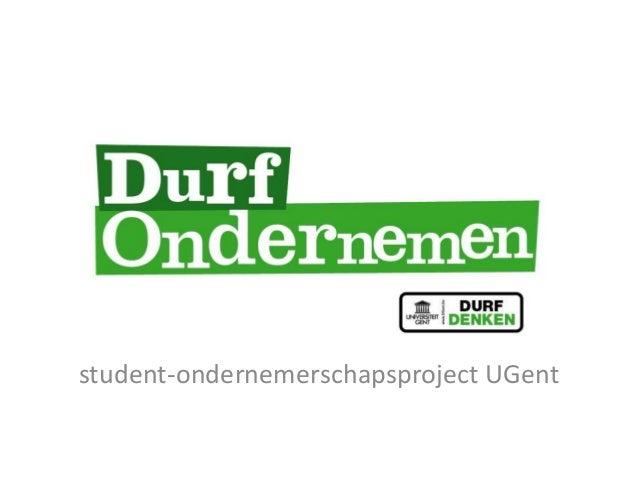 student-ondernemerschapsproject UGent