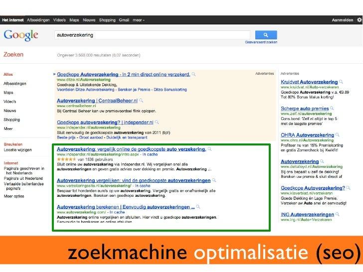 SEA + SEO = SEM  zoekmachinemarketing (SEM)