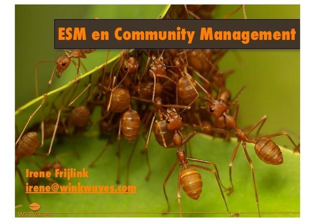 ESM en Community ManagementIrene Frijlinkirene@winkwaves.com