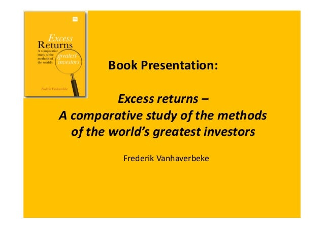 book presentation excess returns a comparative study of the methods