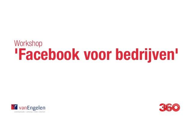 Workshop 'Facebook voor bedrijven'