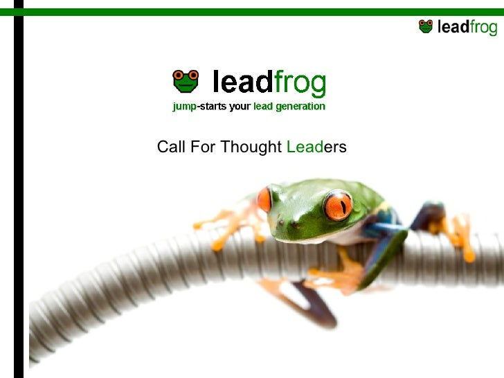 Call For Thought  Lead ers