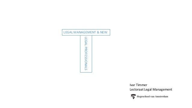 Ivar Timmer Lectoraat Legal Management LEGAL MANAGEMENT & NEW LEGALPROFESSIONALS