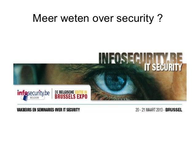 Meer weten over security ?
