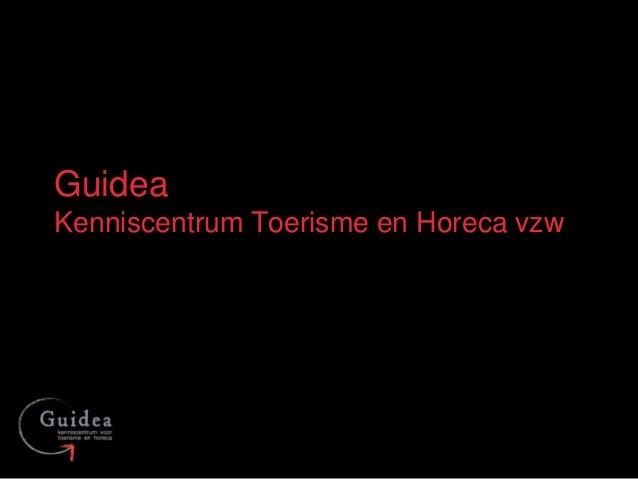 GuideaKenniscentrum Toerisme en Horeca vzw