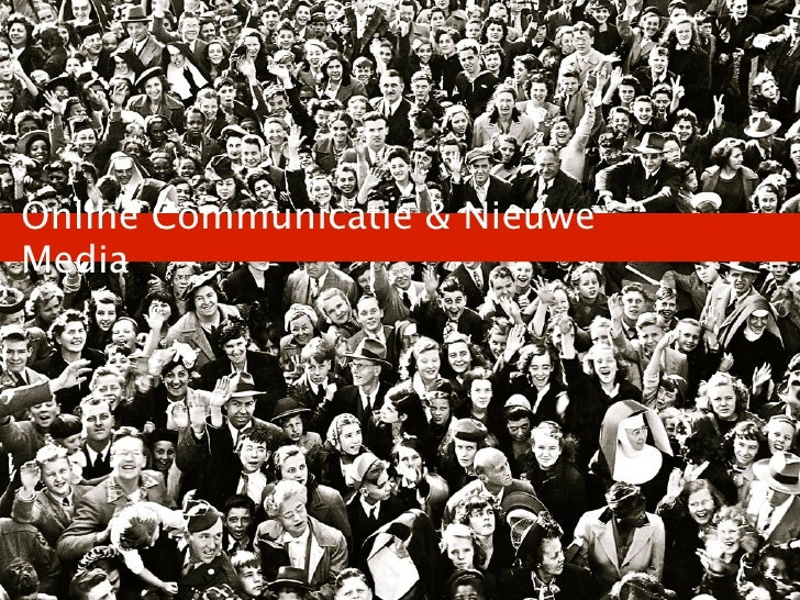 Online Communicatie & Nieuwe Media