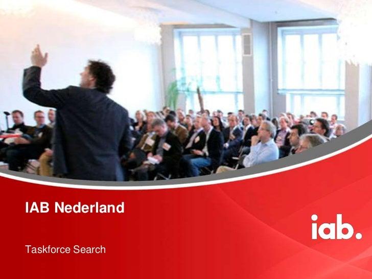 IAB NederlandTaskforce Search