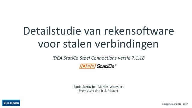 Eindwerk Idea Steel Connection Ku Leuven 2017