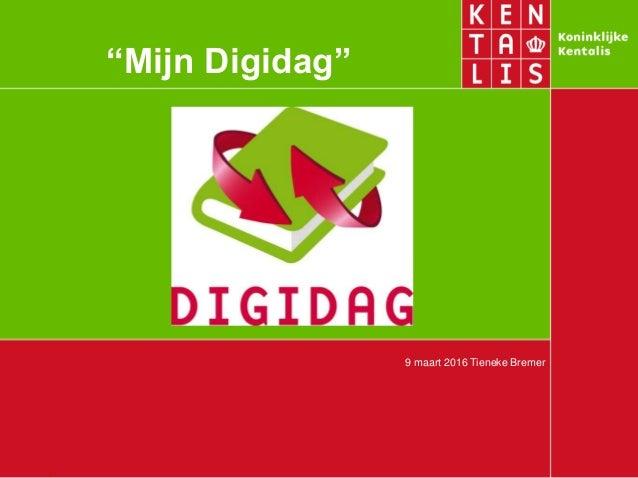"""9 maart 2016 Tieneke Bremer """"Mijn Digidag"""""""