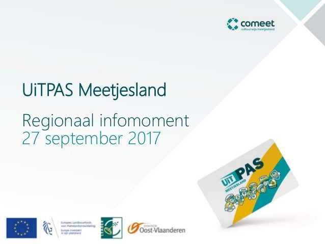 UiTPAS Meetjesland Regionaal infomoment 27 september 2017